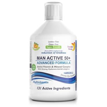 SWEDISH NUTRA SWEDISH NUTRA MAN ACTIVE 50 PLUS MULTIVITAMIN 500ML