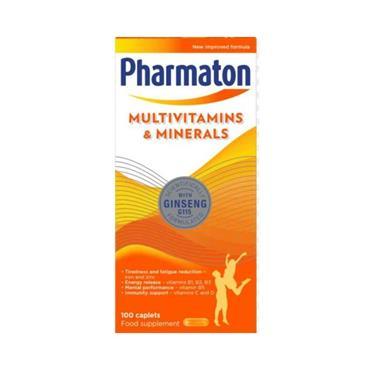 PHARMATON MULTIVITAMINS AND MINERALS 100 CAPLETS