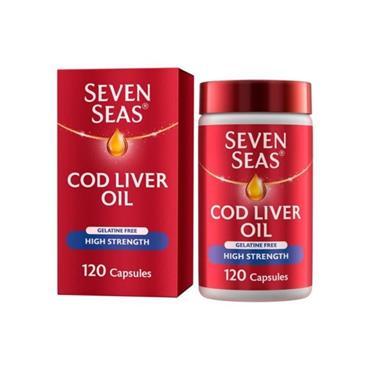 SEVEN SEAS COD LIVER OIL HIGH STRENGTH 525MG OMEGA3 120 CAPS