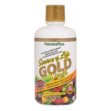 NATURES PLUS SOURCE OF LIFE GOLD MULTI VITAMIN LIQUID 250ML