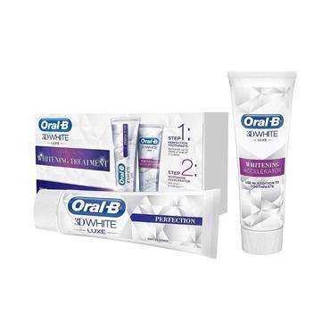 ORAL-B 3D WHITE LUXE WHITENING TREATMENT KIT 2X75ML