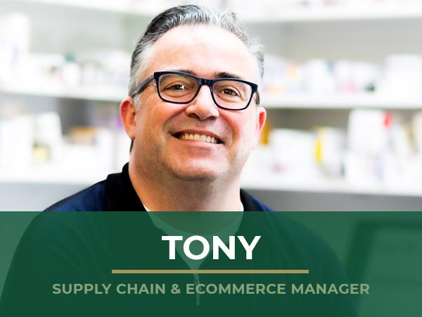Tony - Supply Chain & Ecommerce Manager