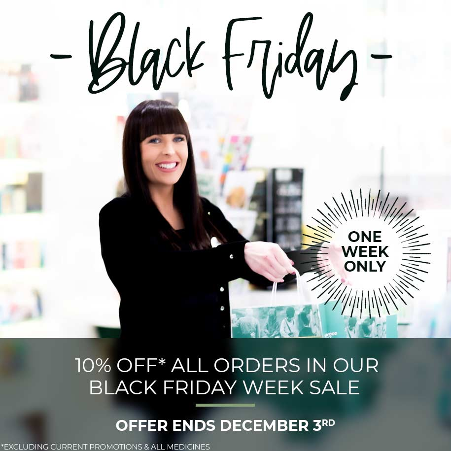 Black Friday - 10% off all orders in our Black Friday Week Sale. Offer ends December 3rd