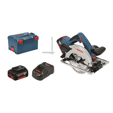 Bosch GKS 18 V-57 G Professional  18 V Circular saw 2 x 5.0Ah batteries, charger in L-BOXX