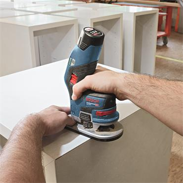 Bosch GKF 12 V-8 Professional Brushless 12 V Router 2 x 3.0 Ah batteries, charger in L-BOXX