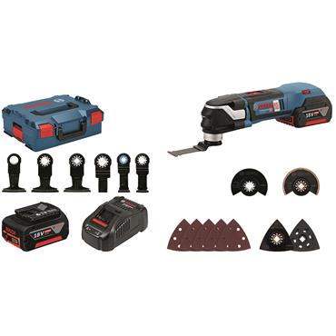 Bosch GOP 18 V-28 Professional  18 V Multitool 2x 5.0 Ah,  charger + 16 x accs in L-BOXX