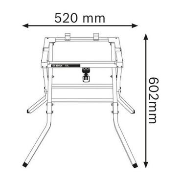 Bosch GTA600 Table Saw Stand