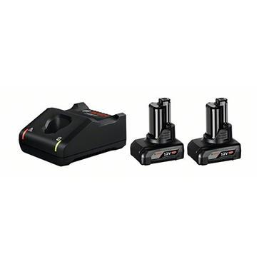 Bosch Battery Starter Set: 2 x GBA 6Ah CoolPack + GAL12V-40 12V Starter Set