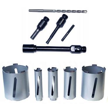 Bosch 2608587007 11 Piece Diamond Dry Core Drill Cutter Set, Carry-Case