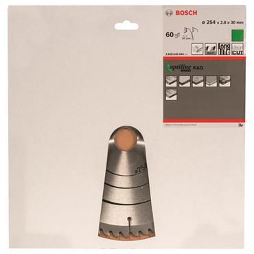Bosch 254mm x 30mm x 60T Optiline Wood Circular Saw Blade