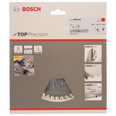 Bosch Wood Circular Saw Blade 165mm x 20mm x 48T
