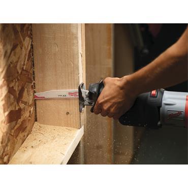 Milwaukee Sawzall (230mm, 5_TPI) Nail Embedded Wood Blade (5.Pk)
