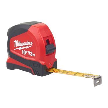 Milwaukee LED Tape Measure 3m/10ft (Blade Width 12mm)