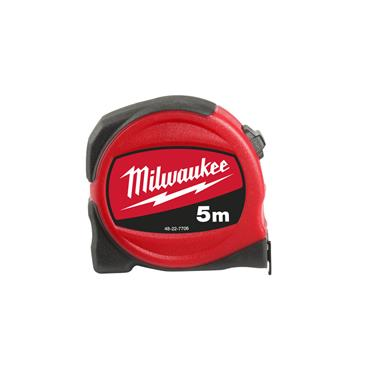 Milwaukee Slimline Tape Measure 5m (Blade Width 25mm) Metric Only
