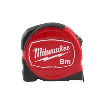 Milwaukee Slimline Tape Measure 8m (Blade Width 25mm) Metric Only