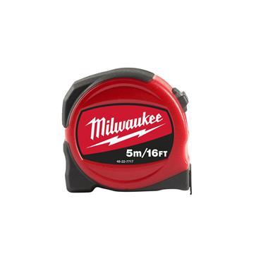 Milwaukee Slimline Tape Measure 5m/ 16ft (Blade Width 25mm)