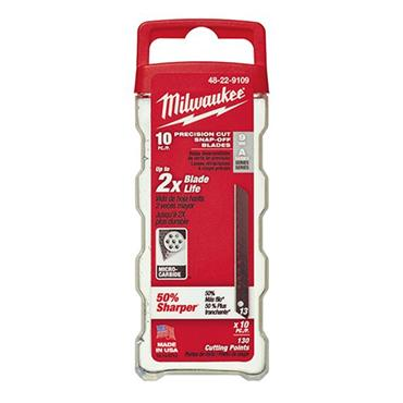 Milwaukee 48229109 9mm Snap-off Knife Blades (10 Pack)