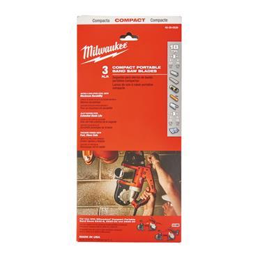 Milwaukee (3.Pk) Compact Band Saw Blades (900 x 12mm  18_TPI, Thin Metal)