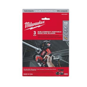 Milwaukee (3.Pk) Sub Compact Band Saw Blades (687.6 x 12mm, 18_TPI)