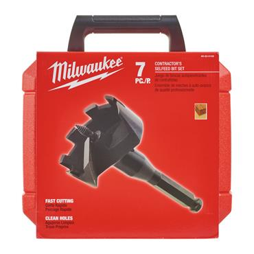 Milwaukee (7 Piece) Selfeed Drill Bit Set