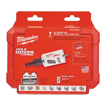 "Milwaukee 3/8"" (9.5mm) Hex Shank Automotive Bi-Metal Hole Saw (7 Piece Kit)"