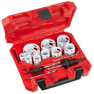 "Milwaukee 3/8"" (9.5mm) Hex Shank Plumbers Bi-Metal Hole Saw (14 Piece Kit)"
