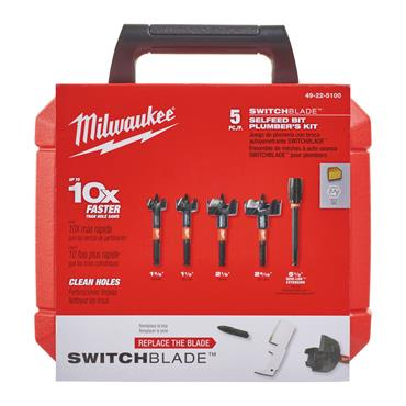 Milwaukee (5 Piece) Switchblade Selfeed Bit Set