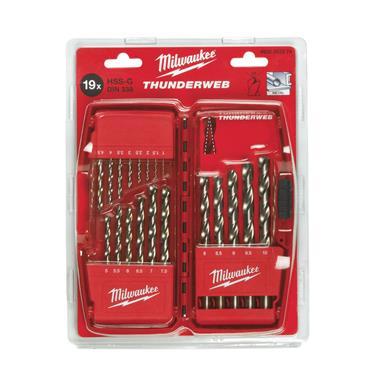 Milwaukee Thunderweb (19 Piece) Ground Metal Drill Bit Set (1 - 10mm Ø)