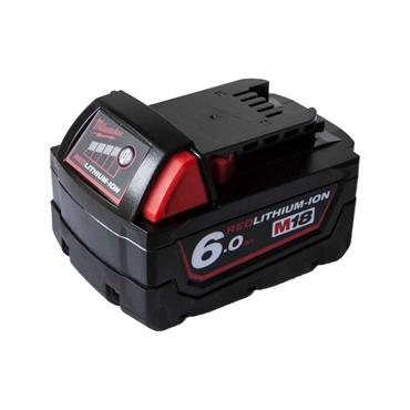 Milwaukee M18B6 18v 6.0Ah Red Lithium-Ion Battery