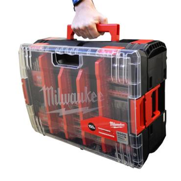 Milwaukee 100 Piece Heavy Duty Shockwave & Drill bit Kit-Box
