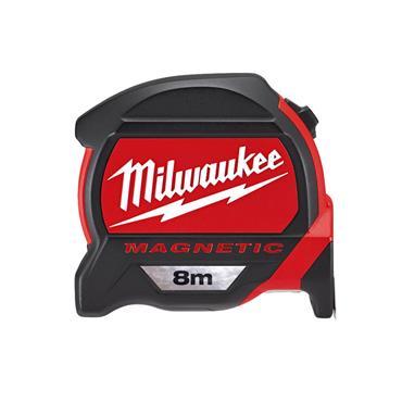 Milwaukee Premium Magnetic Tape Measure 8m (Blade Width 27mm)