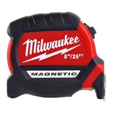 Milwaukee Magnetic Tape Measure 8m/26ft (Blade Width 27mm)