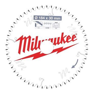 Milwaukee 160mm x 20mm x 54 Tooth Aluminium and Plastic Cutting Circular Saw Blade