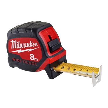 Milwaukee Wide Blade Tape Measure 8m (Blade Width 33mm)