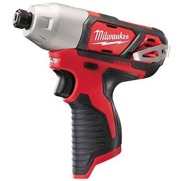 "Milwaukee M12BID-0 12v Compact 1/4"" Hex Impact Driver, (Body Only)"