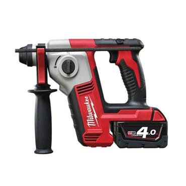 Milwaukee M18BH-402C 18v SDS+ 2 Mode Hammer Drill, 2x 4Ah Batteries, Charger, Kit-Box