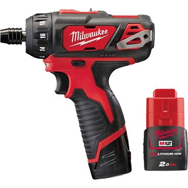 Milwaukee M12BD-202C 12v Compact Driver, 2x2ah Batteries, Charger and Kit-Box