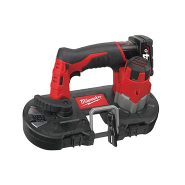 Milwaukee M12BS-402C 12v Sub Compact Bandsaw, 1x Blade, 2x4Ah Batteries, Charger in Kit Box.