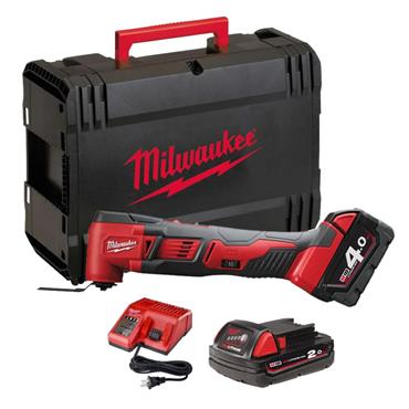 Milwaukee M18BMT-421C 18v Compact Multitool, 1x 2Ah & 1x 4Ah Batteries, Charger, Kit-Box