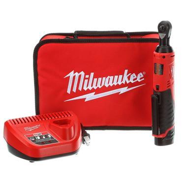 "Milwaukee M12IR-201B 12v 1/4"" Drive, Impact Ratchet, 1x2ah Battery, Charger, Tool Bag"