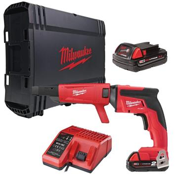 M18FSGC-202X 18v FUEL Drywall Screwgun, Collated Attachment, 2x2Ah Batteries, Charger, Kit-Box