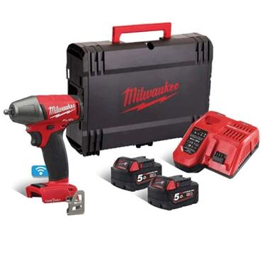 Milwaukee M18ONEIWF38-502X 18v FUEL™ ?? Impact Wrench, 2x5ah Batteries, Fast Charger, Kit-box