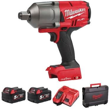 """Milwaukee M18ONEFHIWF34-502X 18v FUEL 3/4"""" Impact Wrench, 2x5ah Batteries, Fast Charger, Kit-box"""