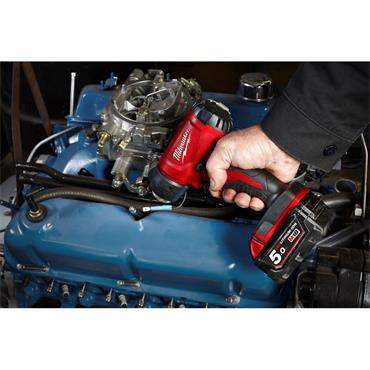 Milwaukee M18BHG-502C 18v Heat Gun, 2x 5Ah Batteries, Charger, Kit-Box