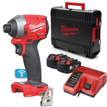 "M18ONEID2-502X 18v FUEL 1/4"" Hex Impact Driver, 2x 5ah Batteries, Charger, Kit-Box"