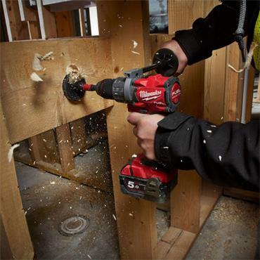 Milwaukee M18FPD2-502X 18v FUEL Combi Drill, 2x5.0Ah Batteries, Charger and Kit-Box