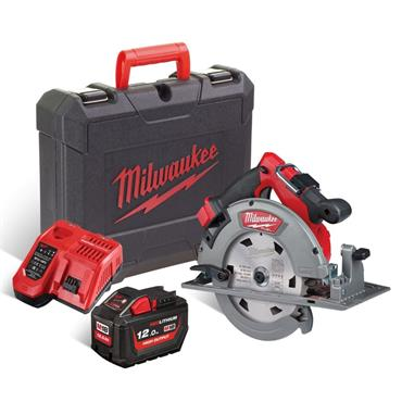 Milwaukee M18FCS66-121C 18v FUEL 190mm Circular Saw, 1x 12Ah Battery, Charger and Kit-Box