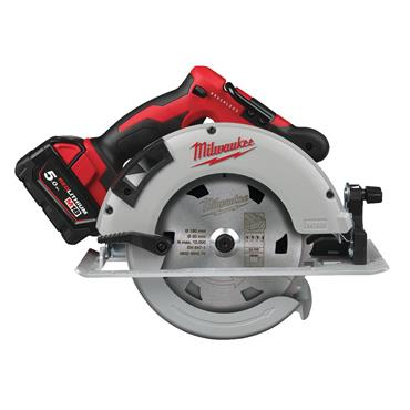 Milwaukee M18 Brushless 66mm Circular Saw Incl. 2x 5Ah Batteries + Charger