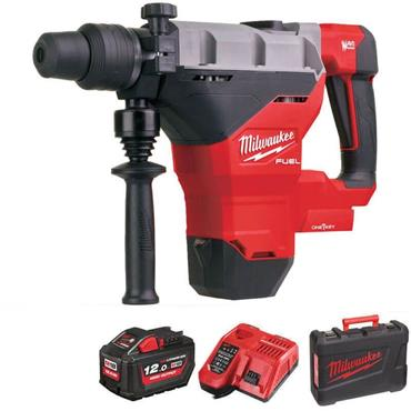 Milwaukee M18FHM-121C FUEL SDS-MAX Drill & Breaking Hammer, 1x 12Ah Battery, Charger, Kit-Box