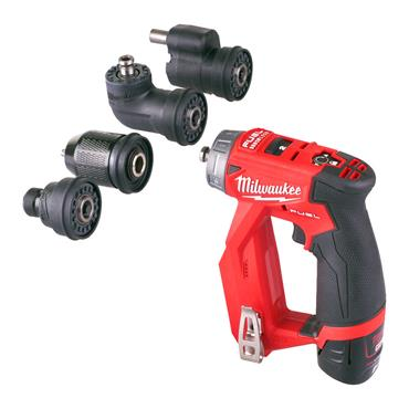 Milwaukee M12FDDXKIT-202X 12v 4-in-1 Drill/Driver Kit, 2x 2Ah Batteries, Charger, Kit-Box